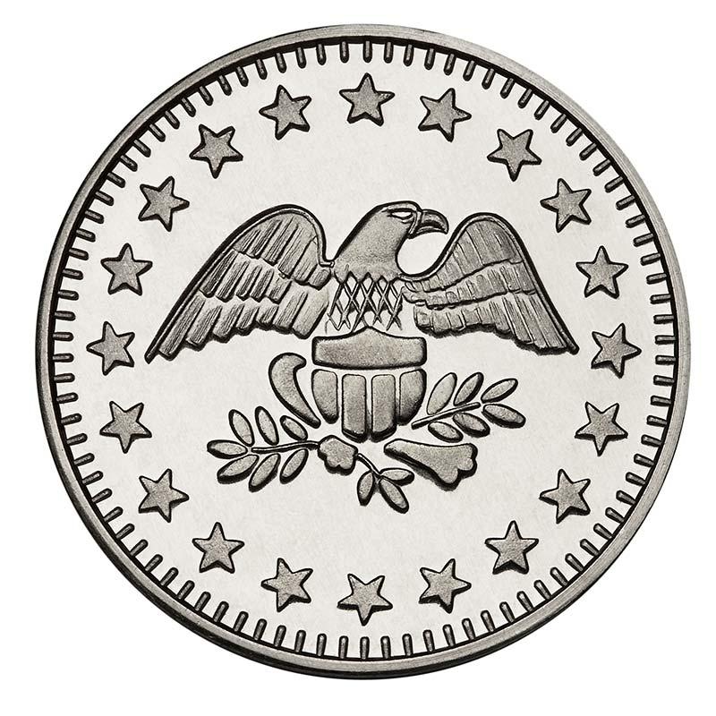 Eagle Stars Nickel Plated Brass Token