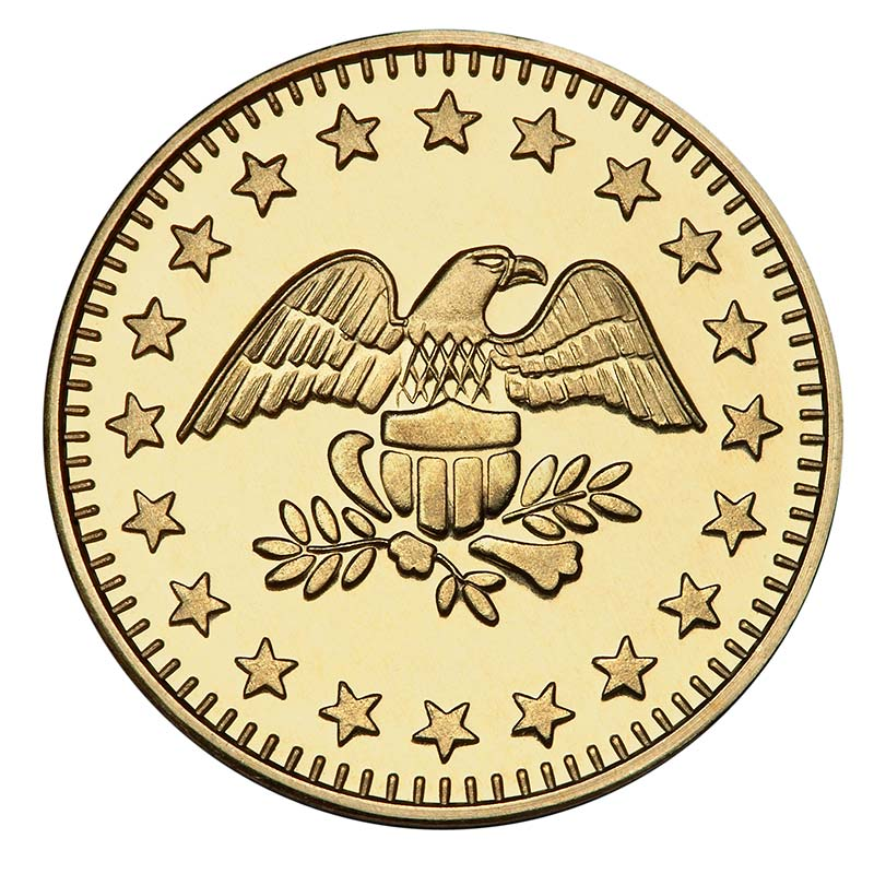 Eagle Stars Brass Token