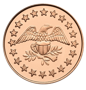 Eagle Stars Copper Plated Zinc Token