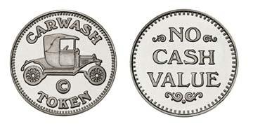 "Nickel Silver 0.984"" Carwash Token/NCV stock token"