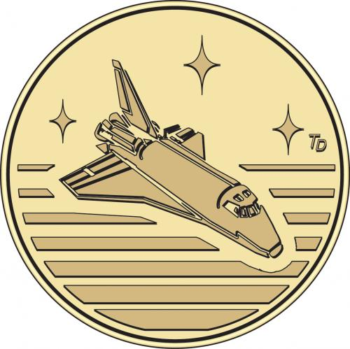 Space Shuttle Stock Token Arcade Token