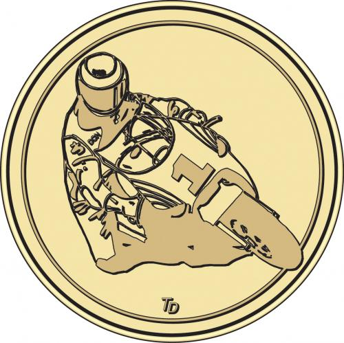 Motorbike Motorcross Token