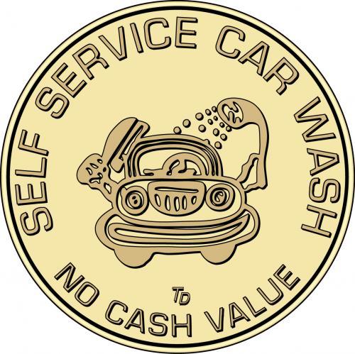 Car Wash Token No Cash Value
