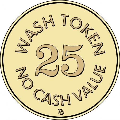 NCV No Cash Value Wash Token