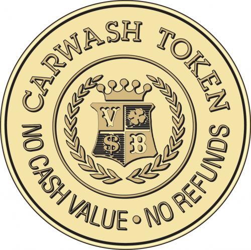 car wash token no cash value no refunds tokensdirect. Black Bedroom Furniture Sets. Home Design Ideas