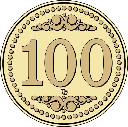 Number 100 Token