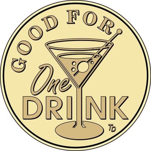 Good For One Drink Martini Glass Tokensdirect