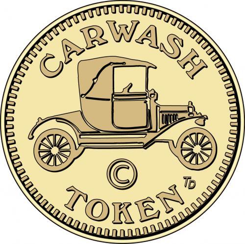 Carwash Token (antique car)