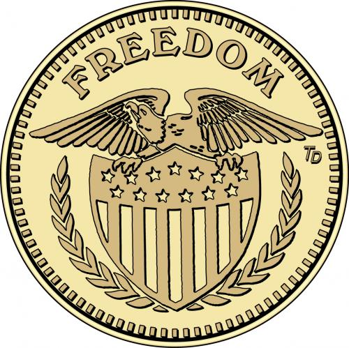 Freedom (eagle with shield)