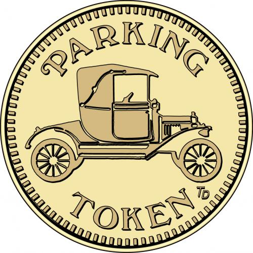 Parking Token Old Fashion Car Tokensdirect