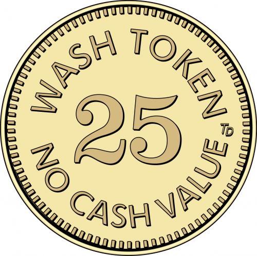 Wash Token 25 No Cash Value
