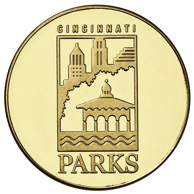 Carol Ann's Carousel custom brass token