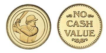"Brass 1.073"" Batter/NCV stock token"