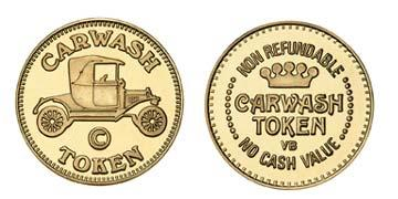 "Brass 0.900"" Carwash Token/NR Crown stock token"