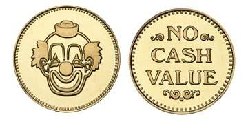 "Brass 0.800"" Clown/NCV stock token"