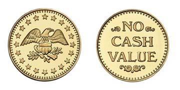 "Brass 0.900"" Eagle Stars/NCV stock token"