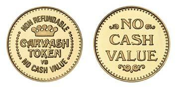"Brass 1.073"" NR Crown/NCV stock token"
