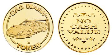 "Red Brass 0.984"" Car Wash/NCV Diamonds stock token"