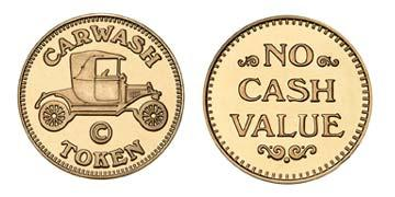 "Red Brass 0.984"" Carwash Token/NCV stock token"