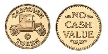 "Red Brass 0.984"" Carwash Token/NCV stock token"