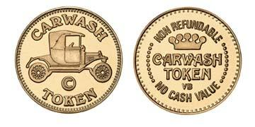 "Red Brass 0.984"" Carwash Token/NR Crown stock token"