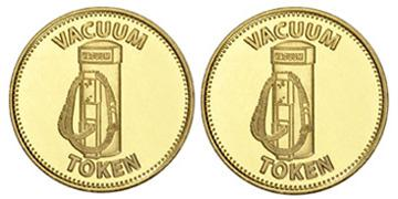 "Brass 0.984"" Vacuum/Vacuum stock token"