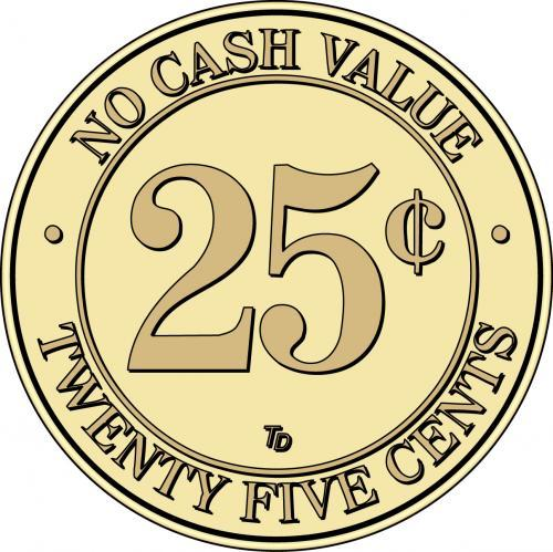 NCV No Cash Value $.25 Token