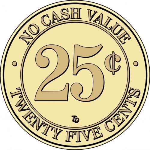 NCV No Cash Value $.25 Token
