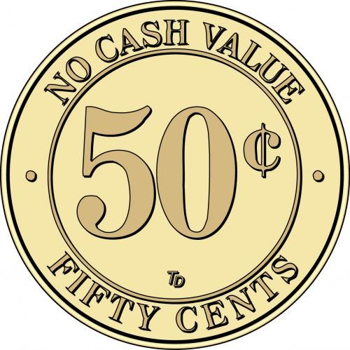 NCV No Cash Value $.50 Token