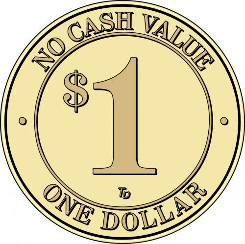 NCV No Cash Value $1 Token