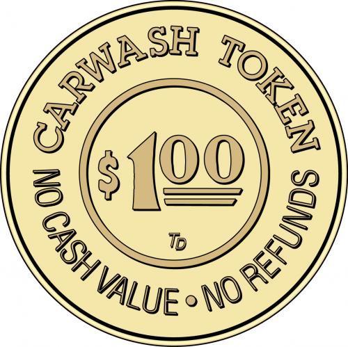 Car Wash Token No Cash Value $1