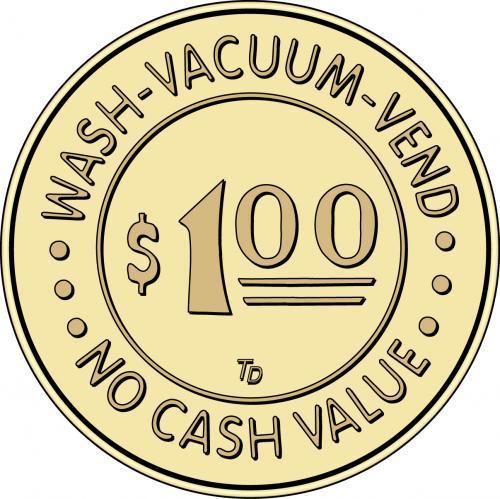 Car Wash Token Vacuum Token