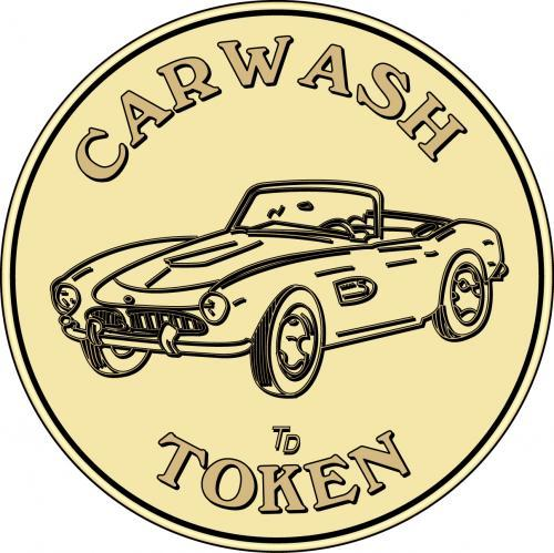 Car Wash Token (corvette)