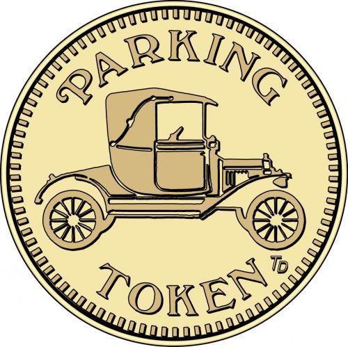 Parking Token (old fashion car)