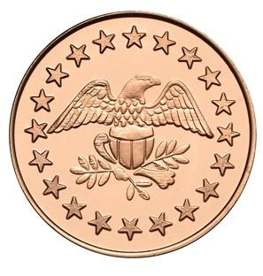 Eagle Stars stock copper plated token
