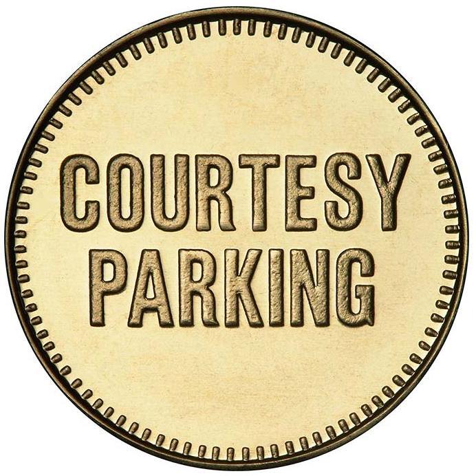 Courtesy Parking token