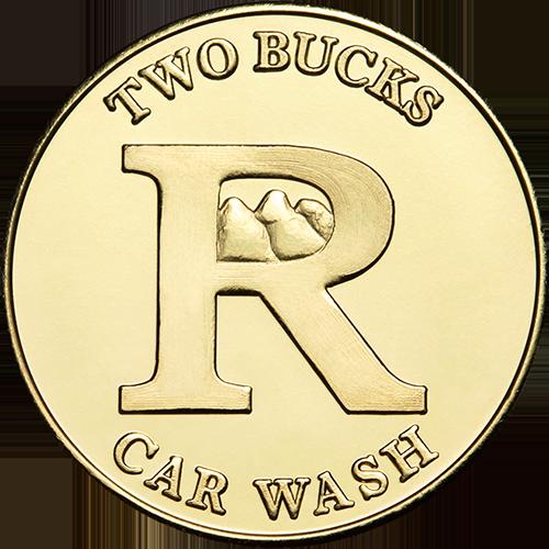 Car Wash Token No Cash Value $2