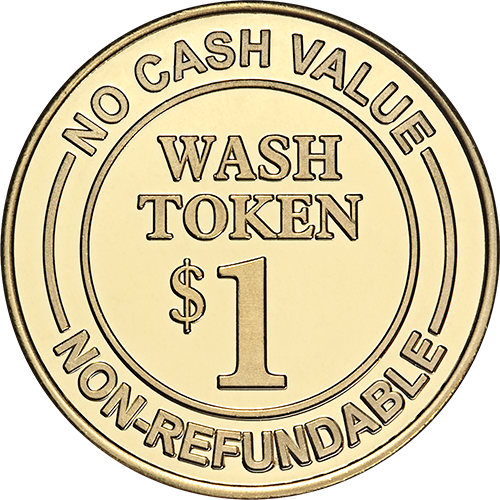 Car Wash Token No Cash Value $1