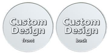 "Aluminum 1.125"" custom token"