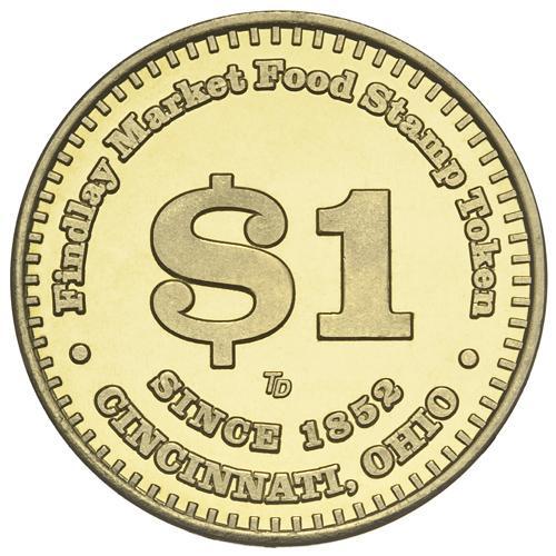 Findlay Market $1 EBT Custom Brass Token