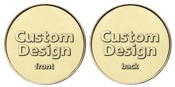 """Brass 1.125"""" custom token"""