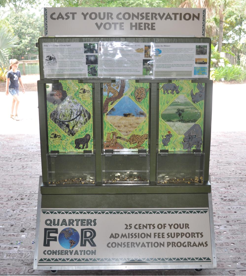 Quarters for Conservation voting booth