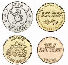 Custom carwash tokens