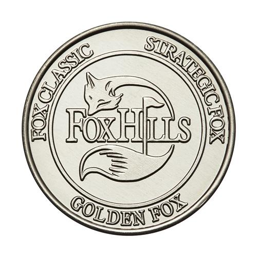 Custom Nickel Plated Brass Golf Token