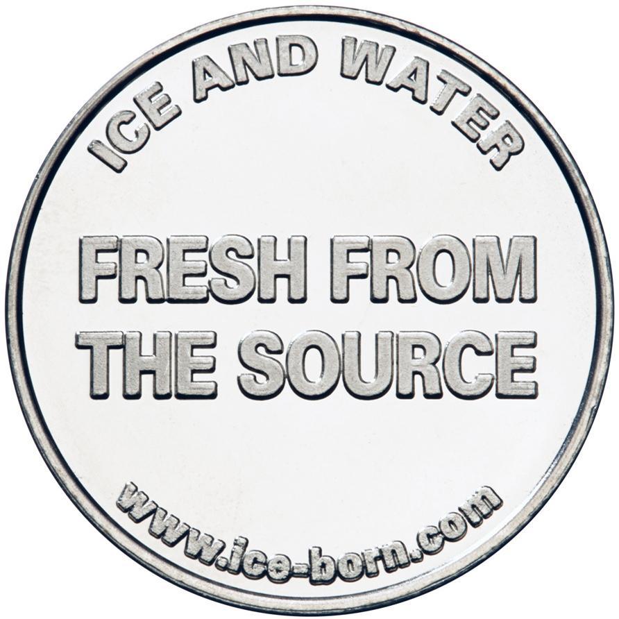 Ice Born nickel silver custom token