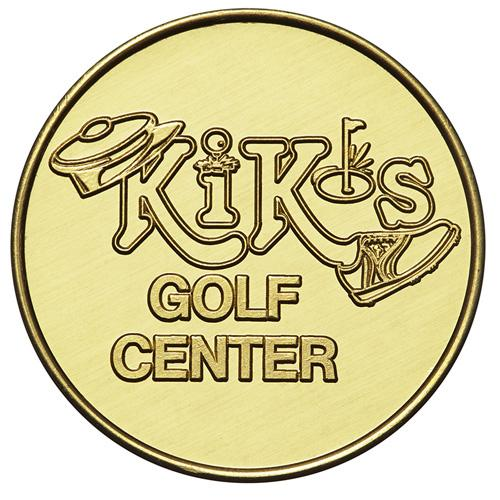 Custom Brass Golf Tokens