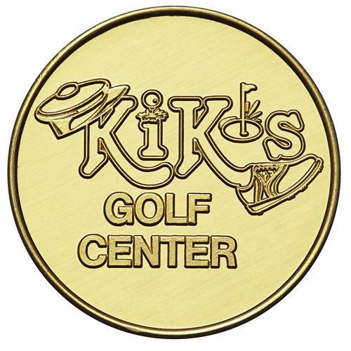 Custom Brass Golf Tokens