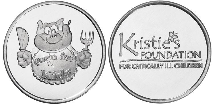 Kristie Foundation custom aluminum coins