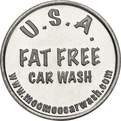 USA Fat Free Car Wash Token