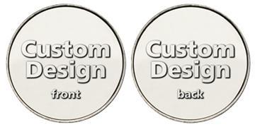 "Nickel Plated Red Brass 0.900"" custom token"